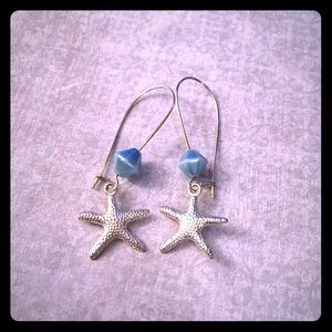Jewelry - 💖✨Blue Pearl Beaded Starfish Earrings✨💖